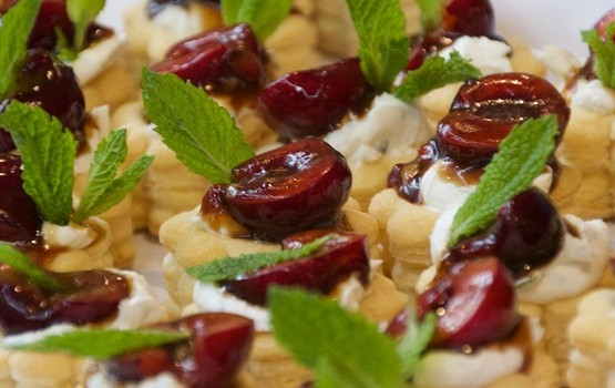 Cherry and Goat Cheese Tartlets