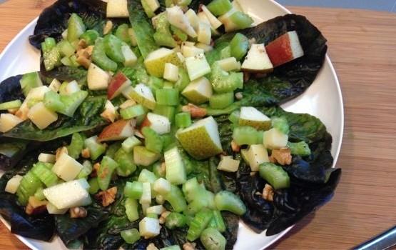 Crispy Celery and Pear Salad