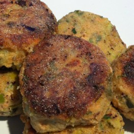 Mexican Fish Cakes with Guacamole