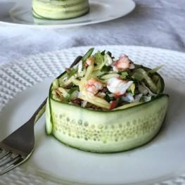 Cucumber and crab Salad