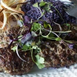 Blue cheese lamb kofte
