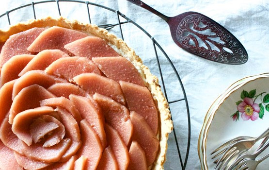 Quince and Macadamia Tart