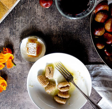Chestnut and ricotta gnocchi