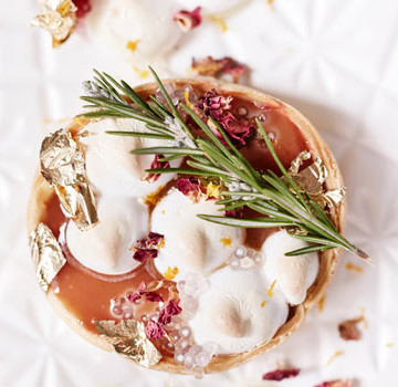 Blood Orange Meringue tartlets