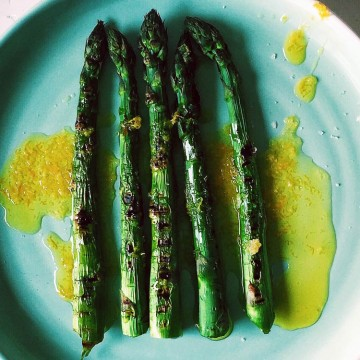 Perfect chargrilled asparagus