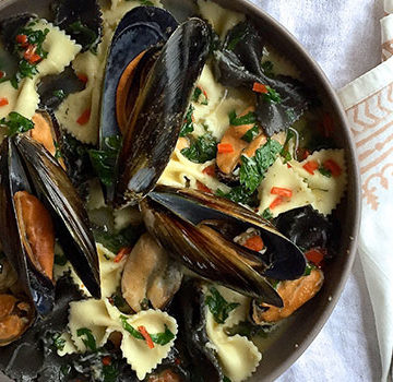 Garlic mussels