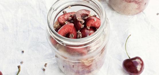 Choc Cherry Chia Pudding