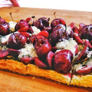 stone fruit cherry tart