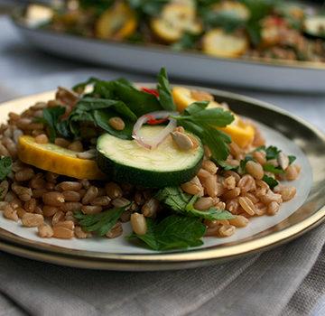 Zucchini farro salad