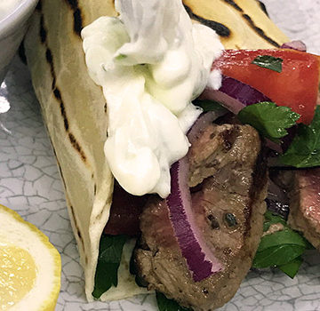 Home-made souvlaki
