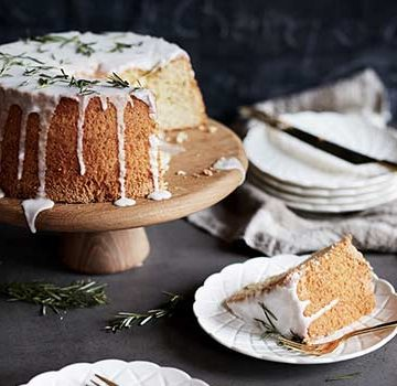 Lemon & Rosemary Chiffon Cake