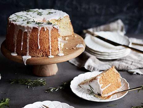Lemon & Rosemary Chiffon Cake