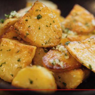 Duck fat potatoes