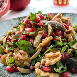 Pomegranate walnut salad