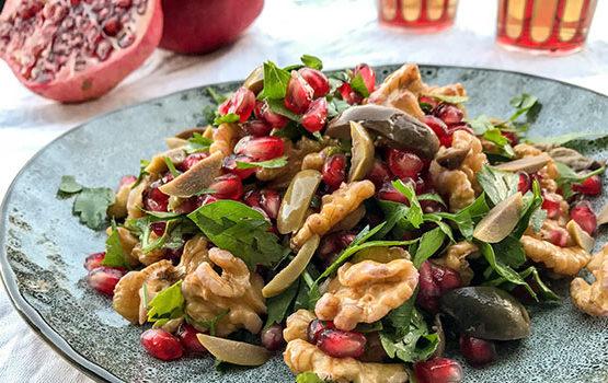 Pomegranate walnut salad