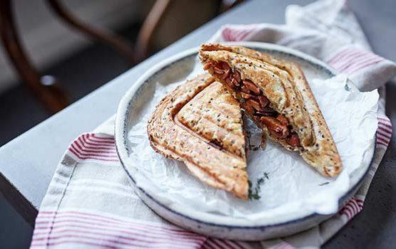 Mushroom Jaffle Sandwich