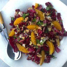 Radicchio, Walnut and orange Salad