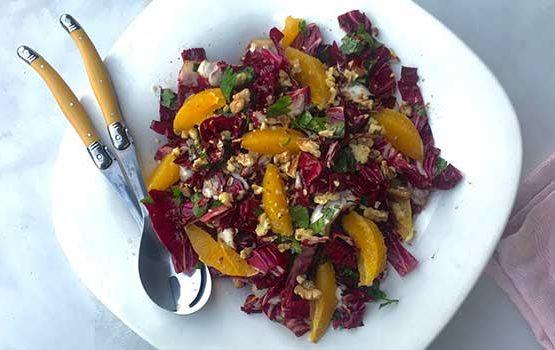 Radicchio, Walnut and orange Salad