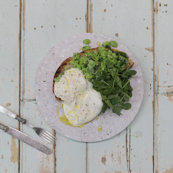 Broad Bean and Mint Bruschetta