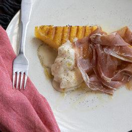 Polenta and prosciutto