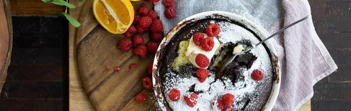 Self-Saucing Chocolate and Orange Pudding